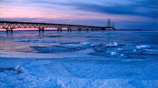 Behold, for a moment, this incredible view of the Might Mack: The Mackinaw Bridge that connects our two peninsulas. This does show the true beauty of being The Great Lake State