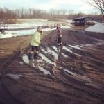 Michigan children delight in stomping through mud. Mostly because they know it makes their Moms Cray Cray!