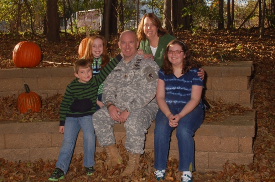 The face of a Modern Military Family -- Our most recent family portrait taken last fall. Allen is now living at home with us  as a Citizen Solider until he is needed again.